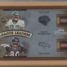 2005 Prestige League Leaders Quad Rod Smith Broncos /100 w/ Jimmy Smith Isaac Bruce Donald Driver