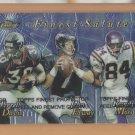 1999 Finest Salute John Elway Broncos w/ Terrell Davis Randy Moss