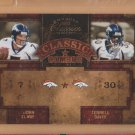 2004 Donruss Classics Classic Combos John Elway Broncos /750 w/ Terrell Davis
