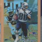 2002 Bowmans Best Blue Refractor Troy Brown Patriots /300