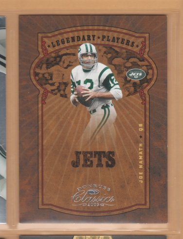 2005 Donruss Classics Legendary Players Silver Joe Namath Jets /500