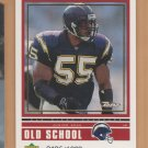1999 UD Retro Old New School Junior Seau Chargers /1000 w/ Chris Claiborne