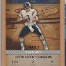 2003 Fleer Authentix Balcony Drew Brees Chargers /250
