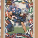 1996 Pacific LItho-Cel Game Time Rookie Tedy Bruschi Patriots RC
