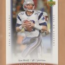 2006 Upper Deck UD Legends Tom Brady Patriots
