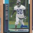 2002 Bowman Edward Ed Reed Ravens RC