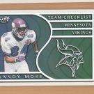 1999 Pacific Team Checklist Randy Moss Vikings