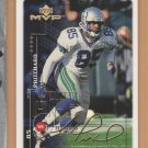 1999 Upper Deck MVP Gold Signature Mike Pritchard Seahawks /100