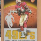 2003 Topps Pristine Gold Refractor Die Cut Terrell Owens 49ers /150