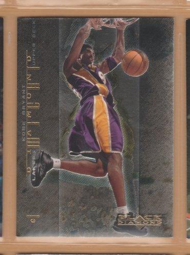 2000-01 UD Black Diamond Might Kobe Bryant Lakers
