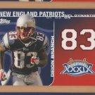 2008 Topps NFL Dynasties Deion Branch Patriots