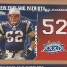2008 Topps NFL Dynasties Ted Johnson Patriots