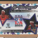 2004-05 Topps All Star Support LeBron James Cavaliers w/ Carmelo Anthony