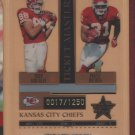 2005 Leaf Rookie & Stars Ticket Masters Tony Gonzalez Priest Holmes Chiefs /1250