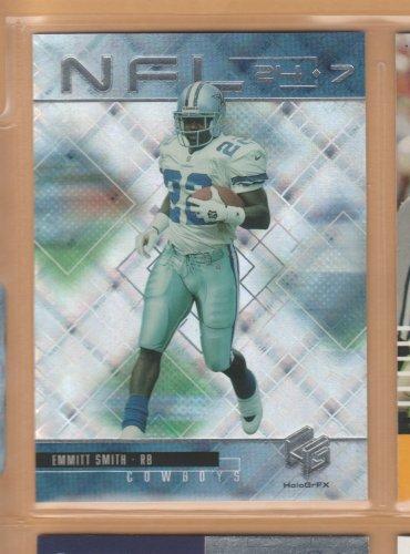 1999 UD HoloGrFX NFL 24-7 Emmitt Smith Cowboys