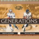 2007 Donruss Threads Generations Deion Sanders Cowboys Devin Hester