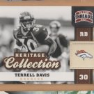 2011 Panini Threads Heritage Collection Terrell Davis Broncos
