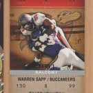 2003 Fleer Authentix Balcony Warren Sapp Buccaneers /250