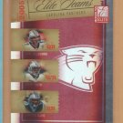 2005 Donruss Elite Teams Red Jake Delhomme Steve Smith Stephen Davis Panthers /500