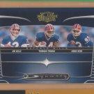 2006 Donruss Threads Dynasty Jim Kelly Thurman Thomas Andre Reed Bills
