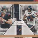 2011 Prestige Connections Matt Schaub Andre Johnson Texans