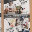 2010 Prestige Connections Matt Schaub Andre Johnson Texans