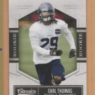 2010 Donruss Classics Rookie Earl Thomas Seahawks RC /999