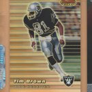 1999 Bowmans Best Refractor Tim Brown Raiders /400