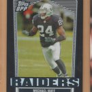 2007 Topps DPP Chrome Refractor Michael Huff Raiders