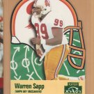1996 Playoff Prime X's & O's Die Cut Warren Sapp Buccaneers