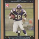 2010 Topps Anniversary Reprints 2007 Topps Adrian Peterson Vikings