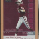 2002 Topps Finest Rookie Josh McCown Cardinals RC