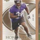 2003 Upper Deck UD Honor Roll Rookie Gold Ovie Mughelli Ravens RC /25