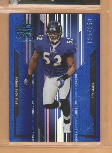 2005 Leaf Rookies & Stars Longevity Blue Ray Lewis Ravens /250