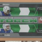 2009 Elite Passing the Torch Green John Mackey Dallas Clark Colts /499
