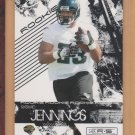 2009 Leaf Rookie & Stars Rashad Jennings Jaguars Giants RC /999