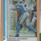 2009 Topps Finest Refractor Calvin Johnson Lions