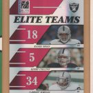 2006 Donruss Elite Teams Randy Moss Kerry Collins LaMont Jordan Raiders /500
