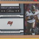 2005 Leaf Rookies & Stars Great American Heroes Derrick Brooks Buccaneers /750