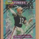 1995 Topps Finest Refractor Vinny Testaverde Browns