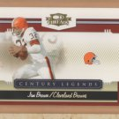 2007 Donruss Threads Century Legends Jim Brown Browns