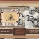2007 Donruss Classics Legendary Players Bronze Jim Brown Browns /1000