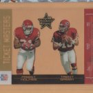 2004 Leaf Rookie & Stars Ticket Masters Gold Trent Green Priest Holmes Chiefs /250