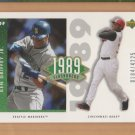2002 UD Authentics 1989 Flashbacks Ken Griffey Jr Reds Mariners /4225