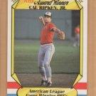 1987 Fleer Award Winner Cal Ripken Jr Orioles