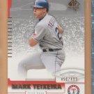 2004 UD SP Authentic SP Gold Mark Teixeira Rangers /499