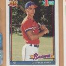 1991 Topps Rookie Chipper Jones Braves RC