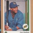 1989 Upper Deck Rookie Gary Sheffield Brewers RC