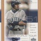 2001 UD Pros & Prospects Ichiro World Tour Rookie WT8 Ichiro Suzuki Mariners RC