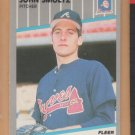 1989 Fleer Rookie John Smoltz Braves RC